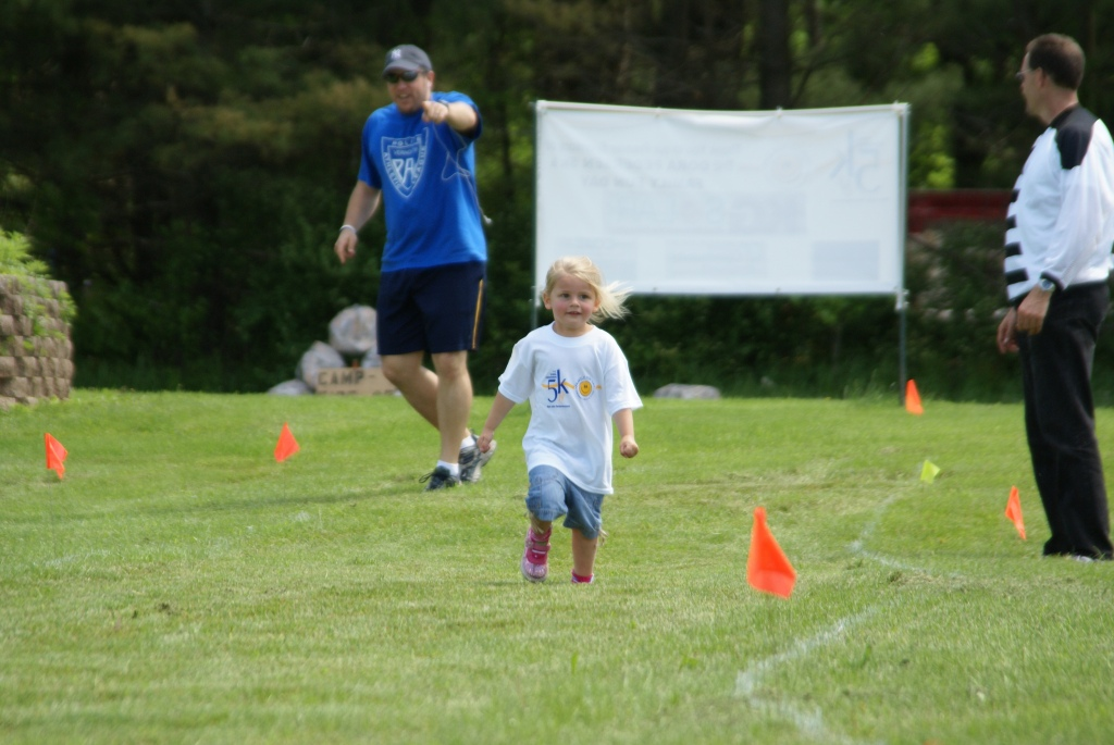 my daughter's first race, age 3